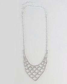 Adoria Diamante Necklace Silver-tone
