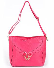 Utopia Snake Box Bag Pink