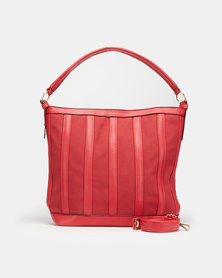 Utopia Strip Handbag Red