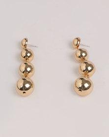 Miss Maxi Zinc Drop Earrings Gold-tone