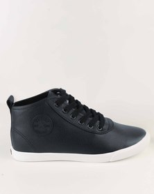 Soviet Callista Hi Casual Mid Cut Lace Up Sneaker Navy