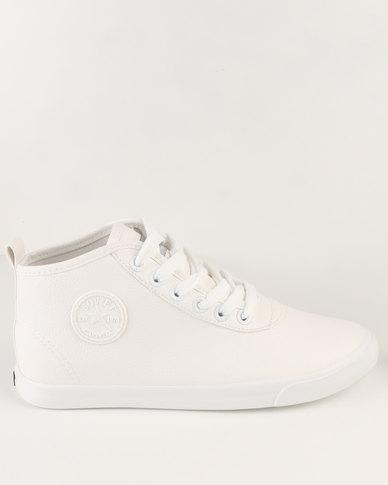 Soviet Callista Hi Casual Mid Cut Lace Up Sneaker White