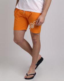 Crosshatch Makins Shorts Orange Pepper