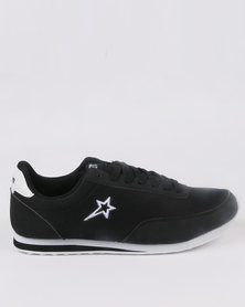 Soviet Maybach Casual Low Cut Lace Up sneaker Black