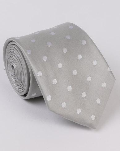 Monatic Silk Ties Silver