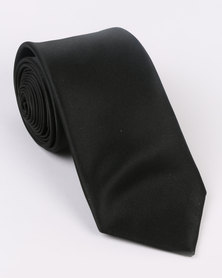 Monatic Poly Satin Ties Black