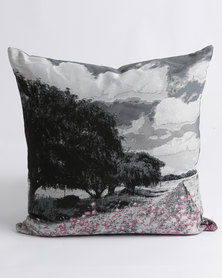 Sheraton Willow Trees Feather Inner Scatter Cushion Pink