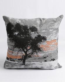 Sheraton Lone Tree Feather Inner Scatter Cushion Orange