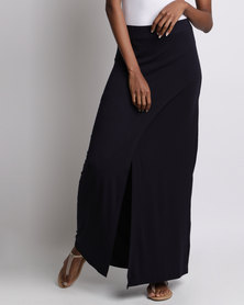 Utopia Wrap Pencil Skirt Navy