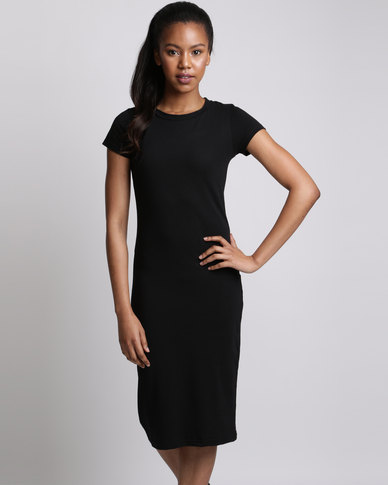 Utopia Basic Knit Dress Black