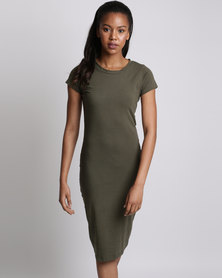Utopia Basic Knit Dress Olive