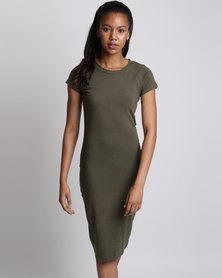 Utopia Basic Knit Dress Olive