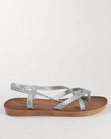 Q Surf Flat Sandal Silver