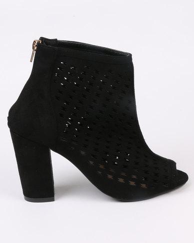 465376c5abb Urban Zone Block Heel Peep Toe Shoe Black
