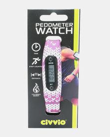 Civvio Pedometer Watch Purple