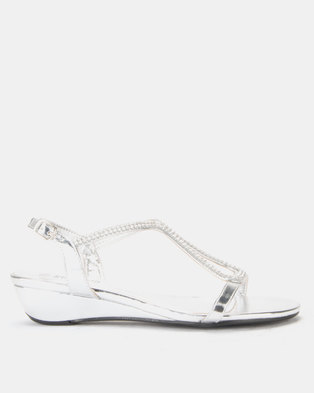 Staccato Wedge Sandals Silver