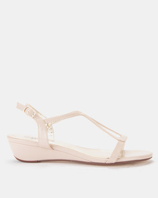 Staccato Wedge Sandals Nude