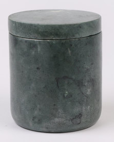 Linen House Marble Canister Green