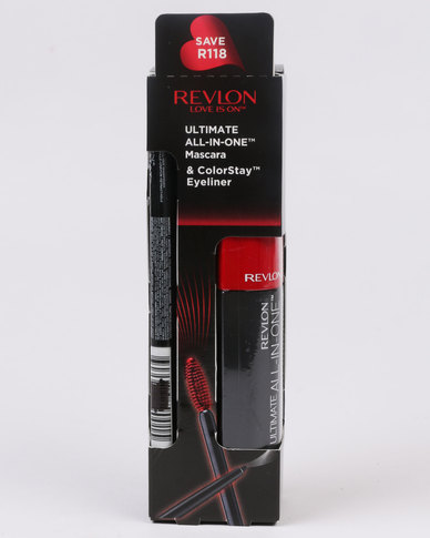 Revlon Ultimate All in One Mascara NWP & ColorStay Eyeliner Blackened Brown