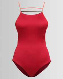 RVCA Frothy Once Piece Rio Red