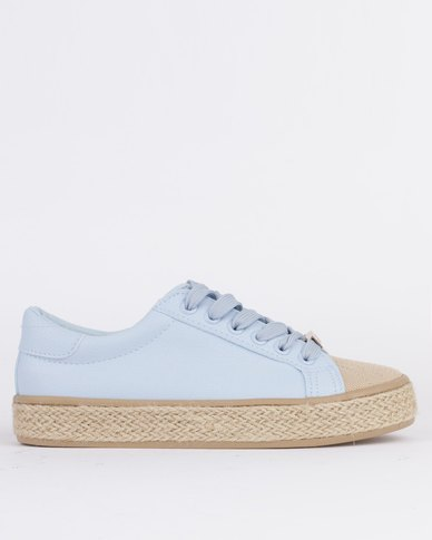 KG Ladies Rope Low Cut Lace Up Sneaker Blue