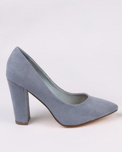 Madison Jericho Block Heels Blue
