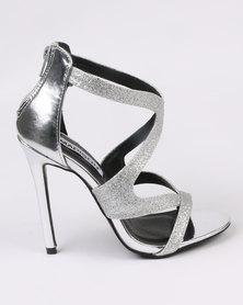 Madison Lola Heels Silver-tone