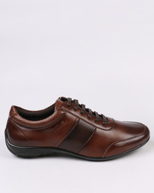 Gino Paoli Two Tone Lace Up Brown