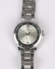 Digitime Module Watch Silver-tone
