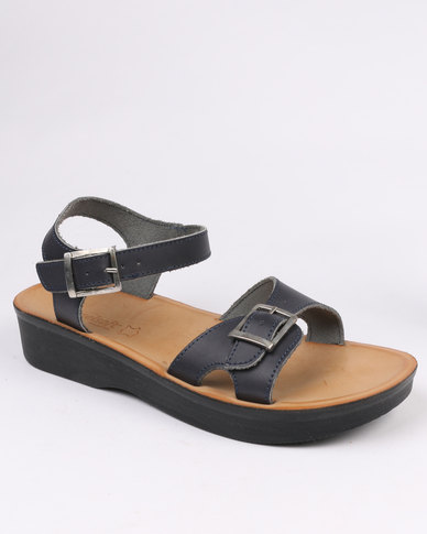 Leather Blue Comfort Sandal Angelsoft Ladies Slingback Wedge dCrBoexW