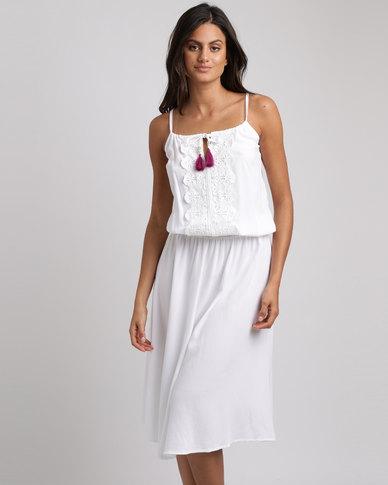 Lila Rose Grecian Long Dress White