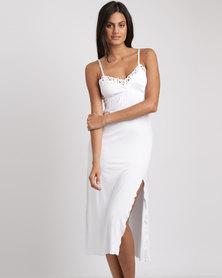 Lila Rose Long Lace Chemise White
