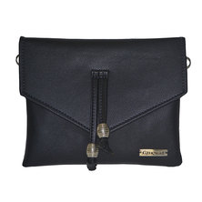 GTHOMAS Tassel Clutch Handbag Black