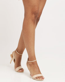 Utopia Ankle Strap Heel Sandals Nude