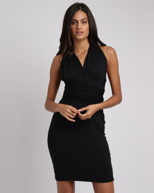 BiBi Rouge Riri Infinity Wrap Dress Black