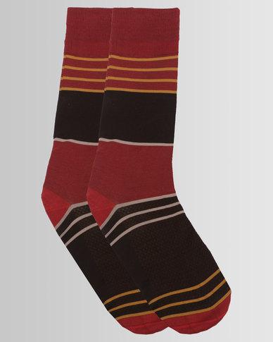 Falke City Stripes Socks Terracotta