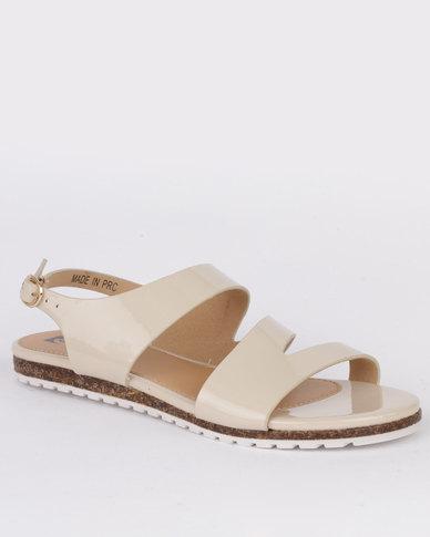 3bfb45e808d Pierre Cardin Ladies Flat Sandals Beige