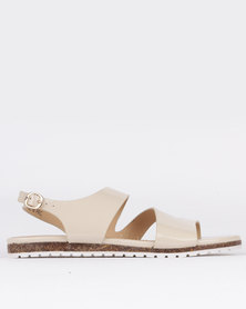 Pierre Cardin Ladies Flat Sandals Beige