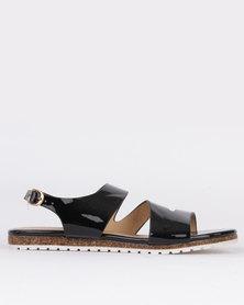 Pierre Cardin Ladies Flat Sandals Black