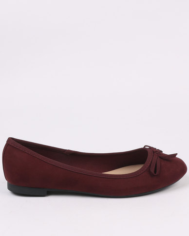New Look Wide Fit Laire 2 SDT LI Square Toe Burgundy
