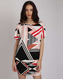 Michelle Ludek Jackie Dress Zulu Print Multi