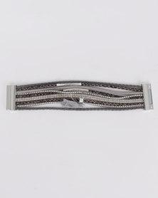 Lily & Rose Multi Strap Bracelet Grey