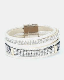 Lily & Rose Multi Strap Bracelet Cream