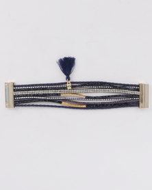Lily & Rose Multi Strap Bracelet Navy