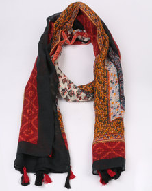 Miss Maxi Large Printed Fashion Scarf Coral
