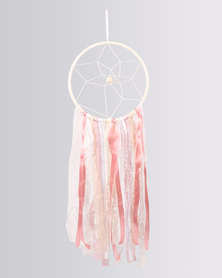 The Hand To Heart Collection Dreamcatcher Lace And Ribbons Dreamcatcher Pink