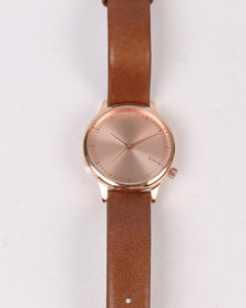 Komono Estelle Watch Cognac