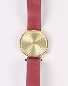 Komono Estelle Watch Burgundy
