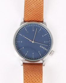 Komono Winston Blue Watch Cognac