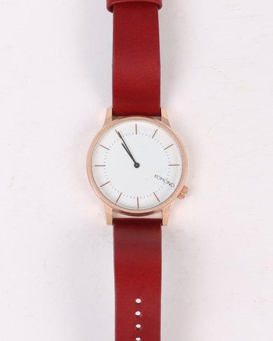 Komono Winston Regal Watch Rubino Red